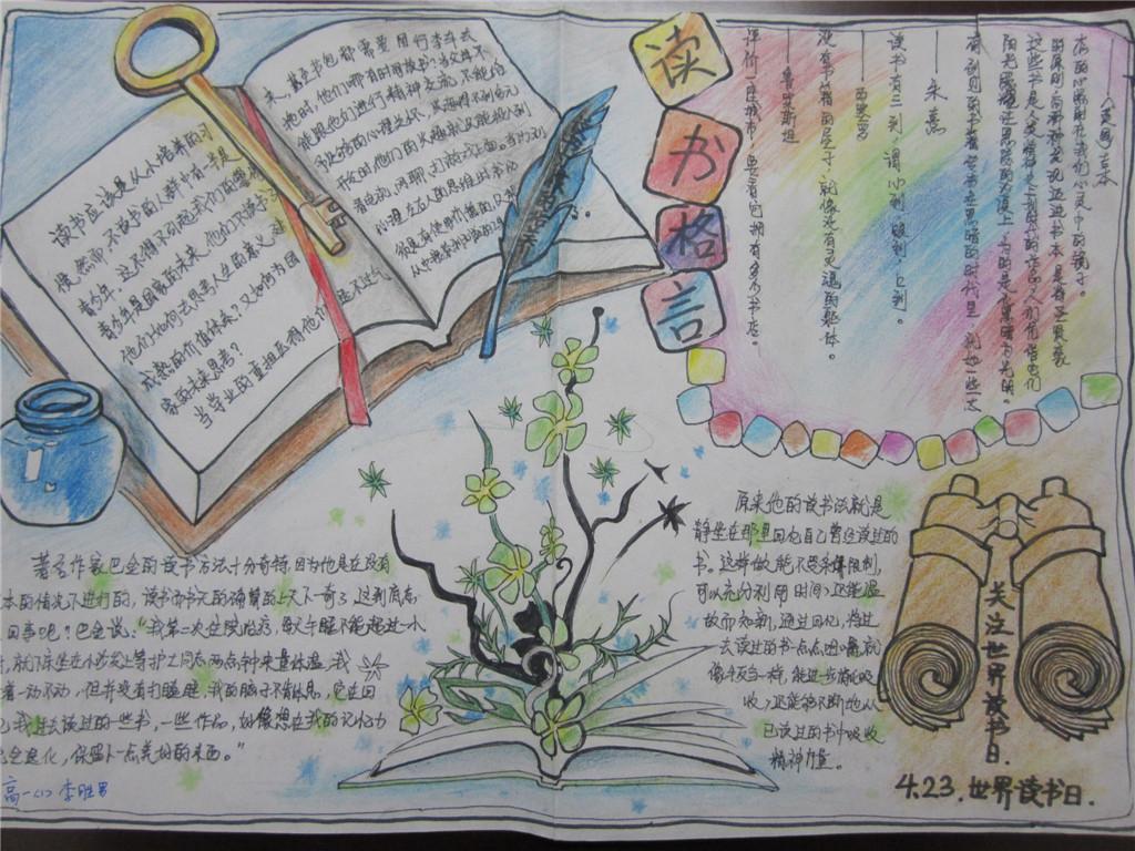 书为主题的手抄报内容|以书为主题的手抄报版面设计